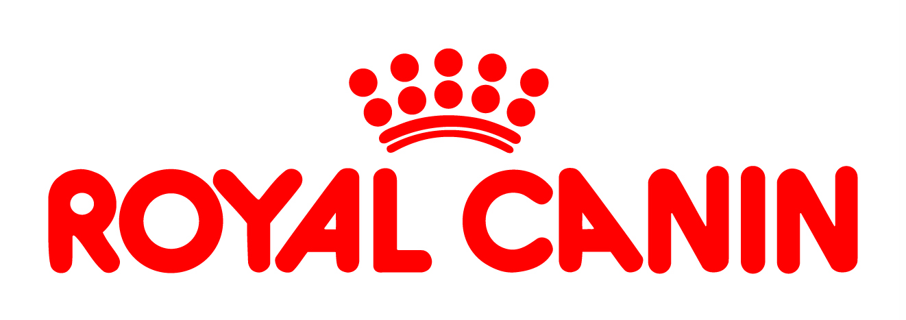 Royal canin logo, the words Royal Canin with a red crown on top